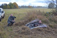 Filming Geese Hunting in Estonia for the Spanish TV