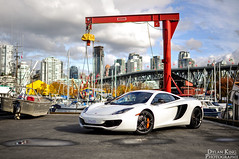McLaren MP4-12C (Dylan King Photography) Tags: two white canada black vancouver 35mm mirror design nikon doors open bc painted side wheels stock wing engine twin columbia headlights front turbo cover mclaren lip british blade carbon f18 fiber rims turning v8 forged matte pur 38 monoblock lightweight d90 4our mp412c