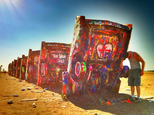 "Cadillac Ranch - Amarillo Texas • <a style=""font-size:0.8em;"" href=""http://www.flickr.com/photos/20810644@N05/8142777970/"" target=""_blank"">View on Flickr</a>"