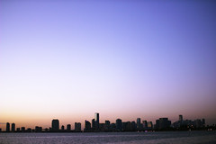 Miami (tanjila) Tags: city sunset skyline downtown miami miamiskyline