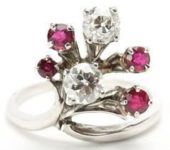 1003. Fine Ruby and Diamond Fashion Ring