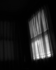 A BEDROOM WINDOW [EXPLORED] (Sheba53) Tags: windows blackandwhite abstract window lines bedroom shadows curtains abstracts bedroomwindow blackandwhiteimage