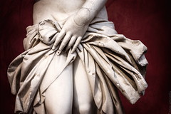 a detail of venus pudica (helen sotiriadis) Tags: red white detail texture statue canon pose ancient venus hand athens clothes greece aphrodite drapes nationalarchaeologicalmuseum canonef50mmf14usm pudica canoneos6d archaeologicalmuseumofathens