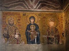 Comnenus Mosaic (Slithy) Tags: istanbul hagiasofia