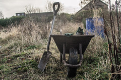 The wheelbarrow (richboxfrenzy) Tags: vegetables fruit gardening earth harvest seed fork sew soil crop hoe allotment dig wheelbarrow weeding spade