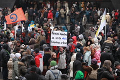 """A march against rascals"", Moscow, Russia, 13.01.13\ ""  "", , , 13.01.13 (Tatyana_Polevaya) Tags: people march russia moscow law procession opposition politika          amarchagainstrascals kidsorphans"