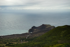 the lighthouse (OR_U) Tags: sea sky lighthouse green volcano oru azores 2012 faial capelinhos