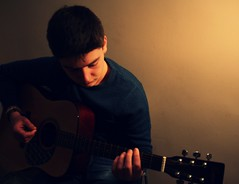 Scott (Rachel Keeeeelly) Tags: boy playing photography guitar portraiture performer portra perfoming