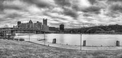 A cloudy Pittsburgh skyline panorama in B&W HDR (Dave DiCello) Tags: beautiful skyline photoshop nikon pittsburgh tripod usxtower christmastree mtwashington northshore northside bluehour nikkor hdr highdynamicrange pncpark thepoint pittsburghpirates cs4 d600 ftpittbridge steelcity photomatix beautifulcities yinzer cityofbridges tonemapped theburgh clementebridge smithfieldstbridge pittsburgher colorefex cs5 ussteelbuilding beautifulskyline d700 thecityofbridges pittsburghphotography davedicello pittsburghcityofbridges steelscapes beautifulcitiesatnight hdrexposed picturesofpittsburgh cityofbridgesphotography