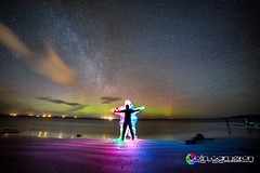 Colour Worship (Colin Cameron ~ Photography ~) Tags: lightpainting green beach stars bright aurora glowing northernlights isleoflewis lightstreams milkyway lenser auroraborialis colincameron braigh lightjunkies lenserv24 samyang14mmf28 canon5dmark3