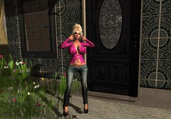 Big Button Leopard Sweater from Pink Acid (BitchPuppet) Tags: life pink fashion hair blog mesh acid makeup sl secondlife second exile damned lolas tattooparadise mstyle utopiah catwa pinkacid {montissu} thesugargarden fifriday miwardrobe bitchpuppet