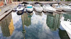 Morning Look (kaprysnamorela) Tags: toronto ontario canada harbourfront image mirrorimage water lake yacht boat nikond3300