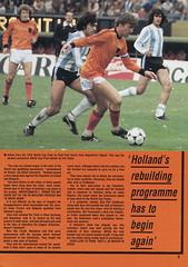 Scotland vs Holland - 1982 - Page 5 (The Sky Strikers) Tags: scotland holland netherlands official programme hampden park glasgow 60p international friendly
