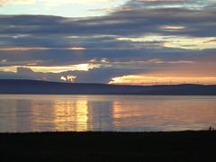 Sunset on Kirkwall bay (stuartcroy) Tags: orkney kirkwall island scotland scenery sky sea sony still water weather white waves reflection ripples red