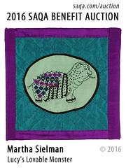 Lucy's Lovable Monster by Martha Sielman (saqaart) Tags: artquilts saqa fiberart quilts textiles artwork stitched layered