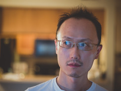 Self (Vincent F Tsai) Tags: self selfie selfportrait me face strange weird glasses home kitchen leicadgnocticron425mmf12 panasonic lumixg7 imageapp