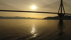 - DSC01905 (omirou56) Tags: sonydscwx500 bridge sea sky sunrise greece rioadirio hellas outdoor 169 silhouette