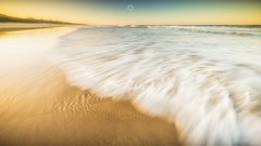 Sweeping Sands (Augmented Reality Images (Getty Contributor)) Tags: australia beach canon landscape leefilters light longexposure peregianbeach queensland sand seaside sunset sunshinecoast water waves