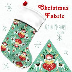 calzenatale (Gaia Marfurt) Tags: spoonflower patterndesign pattern kids fashion homedecor illustration fabric fabricdesign christmas stocking sewing handmade natale