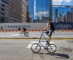Double Decker (Jeffrey Friedkin) Tags: jeffreyfriedkinphotography architecture buildings city cityscene bicycle skyline manhattan newyork newyorkphoto nyc reflection streetscene street bike