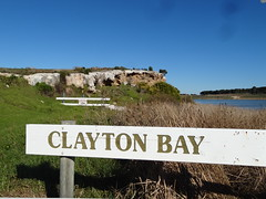Clayton Bay. Here a narrow channel separates Clayton Bay on the mainland from Hindmarsh Island as the waterways head off towards the Murray Mouth. (denisbin) Tags: pointsturt claytonbay clayton headland murray riverlake alexandrina hindmarshisland