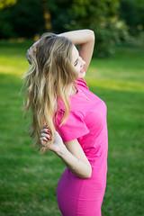Kate (Patho1ogy) Tags: minsk belarus nikon d3100 50mm smile girl beauty beautiful happy lovely summer evening hot golden hour dress pink green hair sexy