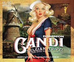 Dominion Candi Belgian Tripel 6-pack packaging (FranMoff) Tags: pinup beer blonde sailor pinupgirl packaging olddominion bluedress dominion candi belgian tripel tripple 6pack sixpack