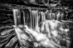 Cascades below Delaware, 2016.08.26 (Aaron Glenn Campbell) Tags: rgsp rickettsglen statepark fairmounttownship luzernecounty nepa pennsylvania ganogaglen fallstrail water waterfall cascades longexposure nature outdoors optoutside meetthemoment macphun 2ev hdr aurorahdrpro bw blackandwhite sony a6000 a6k sonyalpha6000 ice 10stop neutraldensity filter rokinon 12mmf2edasifncs wideangle primelens manualfocus emount