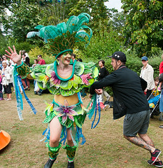 Spinning Round (McTumshie) Tags: hornimanbrazil 20160904 hornimancarnival hornimanmuseum london mandingaarts southlondonsamba carnival costumes dance dancing england unitedkingdom