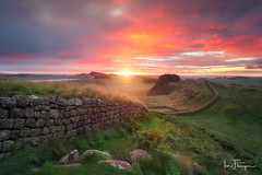 The Roman Wall ( Ian Flanagan) Tags: hadrians wall roman cuddys crag sunrise landscape northumberland stone water grass sky
