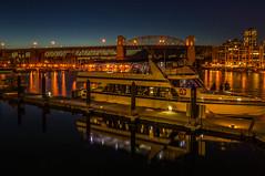 Royal Vancouver_ (rdpe50) Tags: night ocean city boat bridge buildings falsecreek reflections granvilleisland vancouverbc
