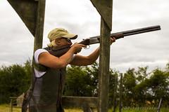 Sarah (jasonpeachey901) Tags: skeet shooting shotgun clay clays claypigeon claypigeonshooting lady woman sport outside sportswoman farm green sportphotography