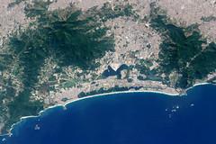 Barra da Tijuca, Rio de Janeiro, from Space (NASA Goddard Photo and Video) Tags: nasa nasagoestotheolympics olympics brazil nasagoddard space satelliteview