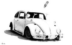 concho.... (Stu Bo) Tags: certifiedcarcrazy classiccar car coolcar canonwarrior volkswagen vdub carart carshow bestofshow blackandwhite oldschool onewickedride oneofakind light love shadows showcar sbimageworks idreamofcarsmotorsandhorsepower import kustom ride rebel reflections