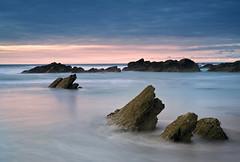 (Andy Bracey -) Tags: bracey andybracey cornwall beach fistral fistralbeach coast coastal landscape seascape sea atlantic sunset sun clouds pink nikon d3s rocks longexposure littlestopper leefilters