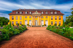 Schloss Mosigkau | Germany (NicoTrinkhaus) Tags: green berlin schloss mosigkau unesco unescoworldheritage building yellow rococo hdr hdrphotography fineart mansion statue garden bluesky castle palace architecture architektur