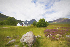 Black Rock Cottage ~ Glencoe (Margaret S.S) Tags: glencoe scotland art black rock cottage