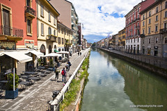 Canal in Milan (doveoggi) Tags: 9518 city italy lombardy milan naviglidistrict