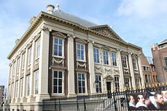 Mauritshuis Museum in  Hague. Den Haag. Netherlands (chrisdingsdale) Tags: netherlands hague museum old architecture mauritshuis hofvijver haag den parliament prime torentje city paintings art tourism minister government europe dutch royal monument famous holland history golden mansion metal orange house landmark historic king lion residence statue sign symbol tradition security secure gold palace culture binnenhof office building rembrandt gallery gate