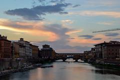 (ola_alexeeva) Tags: firenze florence italy   exploring  sunset   bridge sky skyline    architecture italian ponte vecchio