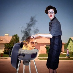 untitled (Flamenco Sun) Tags: caughtintheact shock burnbabyburn cauterise divorce bbq grill fifties housewife grilltopia suburbia murder