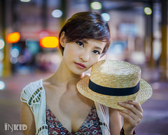 DSC08266 (inkid) Tags: hat street fashion female women model portrait outdoor bokeh dof ambient light  agnes lim people sony dslr a900 malaysia girl asian indoor dslra900 asiangirl chinese babe natural asianbabe photography lens pretty asianchick asiangirls asianmodel asianwomen beautiful girls lady shorthair models woman 50mm f14 carl zeiss planar t za sal50f14z low