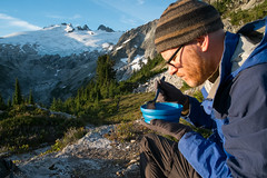 Breakfast. Whatcom Pass (Laura Jacobsen) Tags: backpacking challengerglacier hiking mtchallenger nationalpark northcascades northcascadesnationalpark washington
