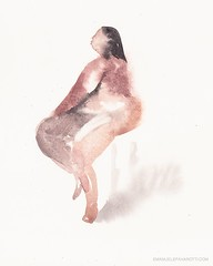 JoLisa #lifedrawing #watercolor #figure #figuredrawing #lady #contemporaryart #artlife #pose #illustration #painting #fineart (Emanuele Pavarotti) Tags: instagram new york usa iphone4s