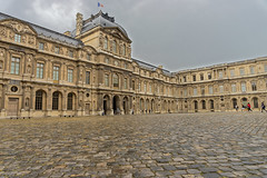 The Louvre in the rain (perkijl61) Tags: louvre museedulouvre paris rain museum cobblestone