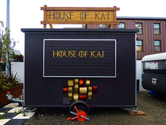 House of Kai (Steve Taylor (Photography)) Tags: houseofkai caravan wheelclamp trailer takeaway art design purple gold red cool wood wooden newzealand nz southisland canterbury cbd city christchurch maori eat food