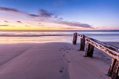 Last Post (mattsecombe) Tags: colour water sand sea clouds yellow blue australia south southaustralia post pier footprints beauty amazing