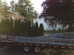 ANR Technologies - 5th Project - Day 11 (2nd day of loading towers and antennas for transport.) - July 2016 (Earla Riopel Sports & Events Photo Collections) Tags: albertriopel hamradios antennas towers anrtechnologies transportation transport flatbedtrailer