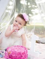 ayla cake smash (siena2012) Tags: cake baby babyphotography babygirl babies pink girl birthday first