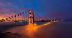 5 a.m. Magic (wuman88) Tags: ggb low fog golden gate bridge sf sanfrancisco sunrise summer blue hour marin battery spencer